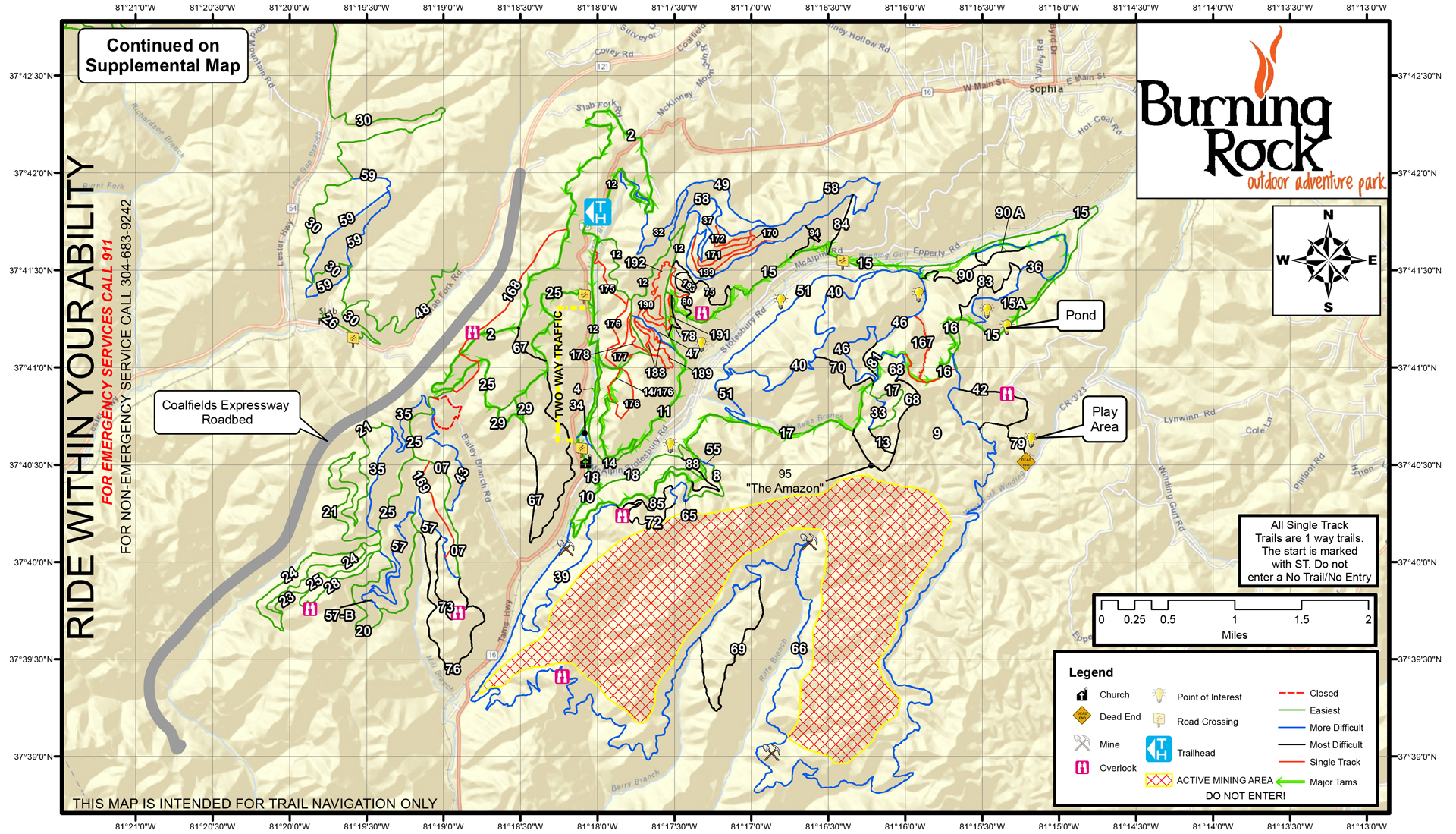 Ride Burning Rock WV - Wv map